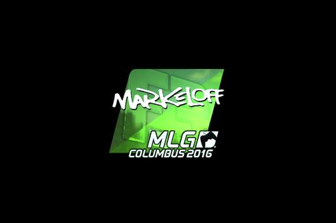 Sticker | markeloff (Foil) | MLG Columbus 2016 Prices