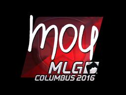 Наклейка | mou (металлическая) | MLG Columbus 2016