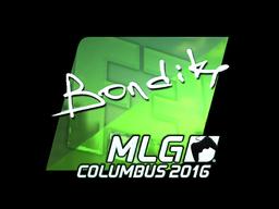 Наклейка | bondik (металлическая) | MLG Columbus 2016