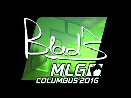Наклейка | B1ad3 (металлическая) | MLG Columbus 2016