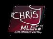 Sticker chrisJ | MLG Columbus 2016