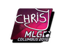 Skin Sticker | chrisJ (Foil) | MLG Columbus 2016