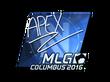 Sticker apEX (Foil) | MLG Columbus 2016