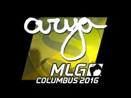Наклейка | arya (металлическая) | MLG Columbus 2016
