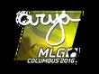 Sticker arya (Foil) | MLG Columbus 2016