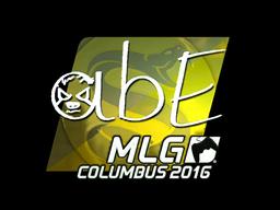 Наклейка | abE (металлическая) | MLG Columbus 2016