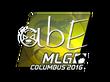 Sticker abE (Foil) | MLG Columbus 2016
