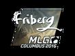 Sticker friberg (Foil) | MLG Columbus 2016