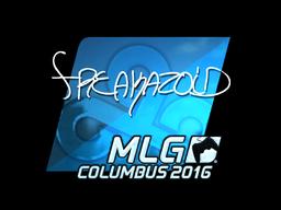 Наклейка | freakazoid (металлическая) | MLG Columbus 2016