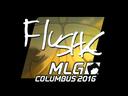 Sticker | flusha (Foil) | MLG Columbus 2016