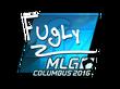 Sticker FugLy (Foil)   MLG Columbus 2016