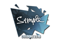 Sticker | s1mple | Cologne 2016