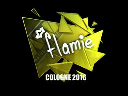 Sticker   flamie (Foil)   Cologne 2016