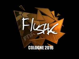 Sticker | flusha (Foil) | Cologne 2016