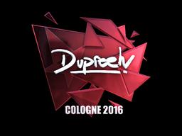 Sticker | dupreeh (Foil) | Cologne 2016