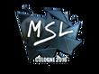 Sticker MSL (Foil)   Cologne 2016