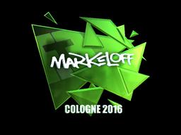 Sticker | markeloff (Foil) | Cologne 2016