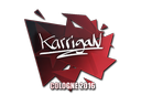 Sticker | karrigan | Cologne 2016
