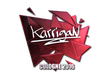 Sticker karrigan (Foil) | Cologne 2016