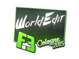 Наклейка   WorldEdit   Кёльн 2015