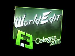 Наклейка | WorldEdit (металлическая) | Кёльн 2015