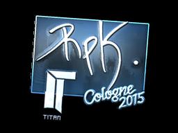Наклейка | RpK (металлическая) | Кёльн 2015