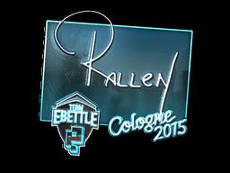 Наклейка | rallen (металлическая) | Кёльн 2015