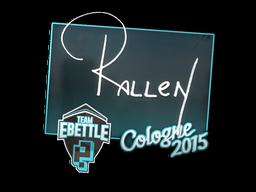 Наклейка   rallen   Кёльн 2015
