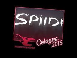 Наклейка   Spiidi   Кёльн 2015
