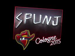 Sticker | SPUNJ (Foil) | Cologne 2015