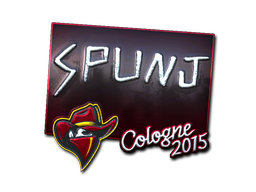 Наклейка | SPUNJ (металлическая) | Кёльн 2015