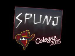 Наклейка   SPUNJ   Кёльн 2015