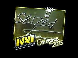 Наклейка | seized (металлическая) | Кёльн 2015