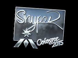 Наклейка   SnypeR (металлическая)   Кёльн 2015