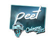 Sticker peet (Foil) | Cologne 2015