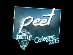 Наклейка | peet (металлическая) | Кёльн 2015