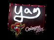 Sticker yam (Foil) | Cologne 2015