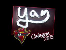 Наклейка | yam (металлическая) | Cologne 2015