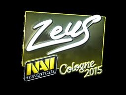 Наклейка   Zeus (металлическая)   Кёльн 2015