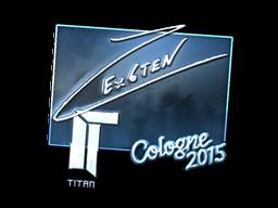 Наклейка | Ex6TenZ (металлическая) | Кёльн 2015
