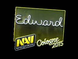 Наклейка   Edward (металлическая)   Кёльн 2015