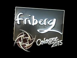 Наклейка | friberg (металлическая) | Кёльн 2015