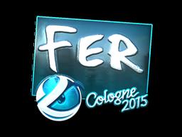 Наклейка | fer (металлическая) | Кёльн 2015
