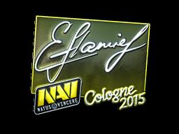 Наклейка | flamie (металлическая) | Кёльн 2015