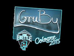 Наклейка | GruBy (металлическая) | Кёльн 2015