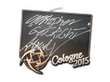 Sticker GeT_RiGhT | Cologne 2015
