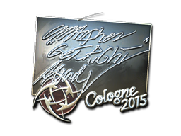 Наклейка | GeT_RiGhT (металлическая) | Cologne 2015