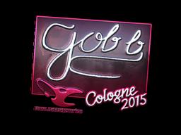Наклейка   gob b (металлическая)   Кёльн 2015