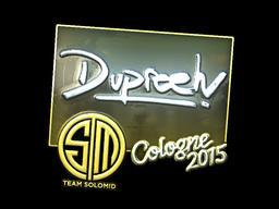 Наклейка | dupreeh (металлическая) | Cologne 2015