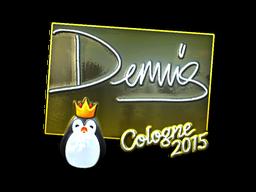 Наклейка | dennis (металлическая) | Кёльн 2015